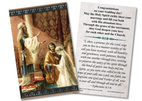 Mary & St. Joseph Wedding Holy Card
