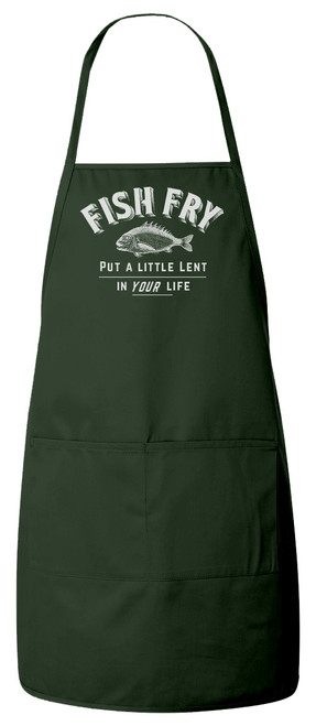 Fish Fry Apron (Green) Personalized