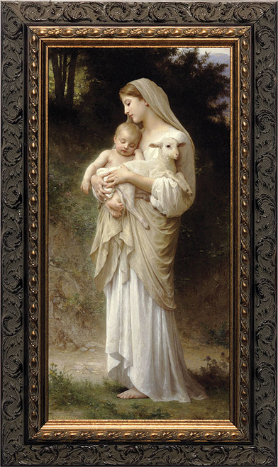 L'Innocence Canvas - Closeout Dark Ornate Frame