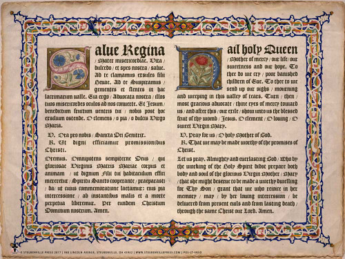 Latin-English Hail Holy Queen Poster
