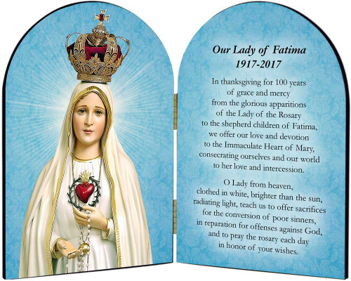 Fatima 100 Year Anniversary Arched Diptych