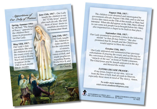 Our Lady of Fatima Faith Explained Card