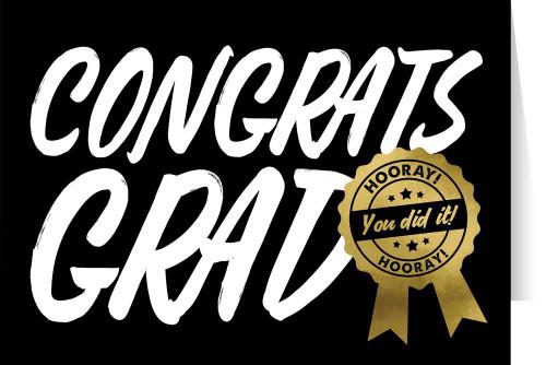 """""""Congrats Grad"""" Graduation Greeting Card"""