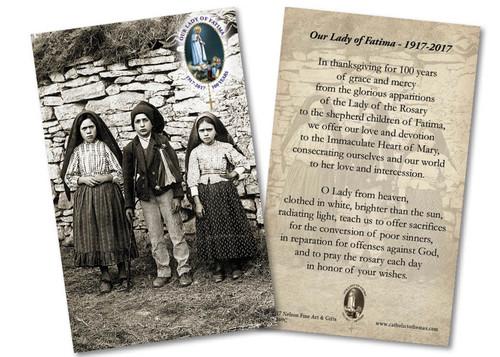 Children of Fatima 100 Year Anniversary Holy Card