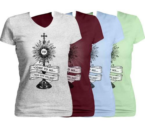 Monstrance Women's Cut V-Neck T-Shirt