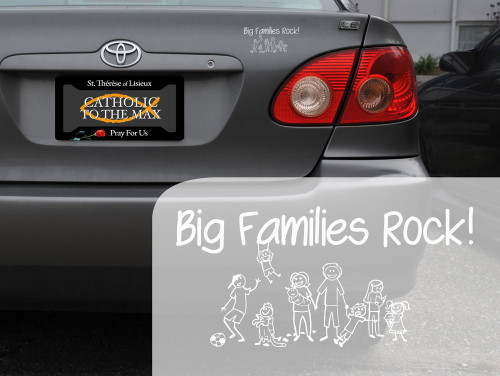 Big Families Rock Decal