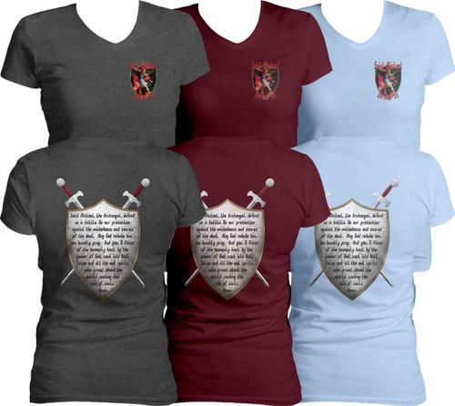 St. Michael Women's Cut V-Neck T-Shirt