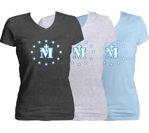 Miraculous Medal Women's Cut V-Neck T-Shirt