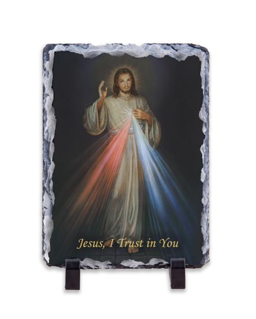 Divine Mercy Vertical Slate Tile