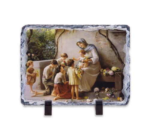 Adoration by Giuseppe Magni Horizontal Slate Tile
