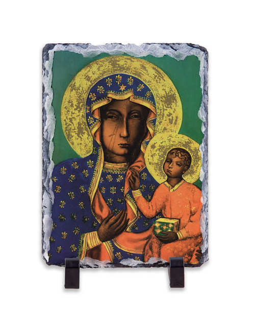 Our Lady of Czestochowa Vertical Slate Tile