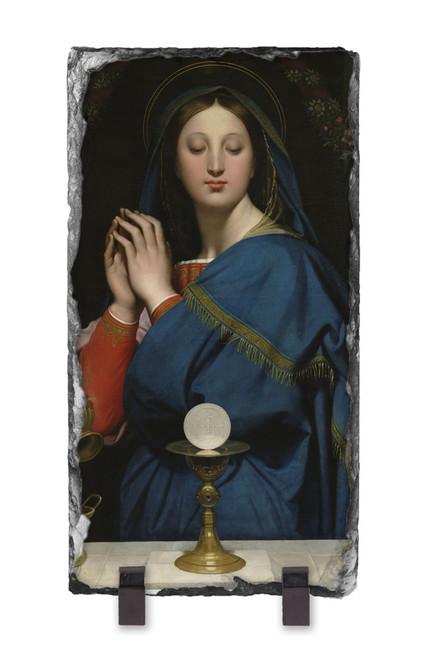 Madonna of the Host Vertical Slate Tile