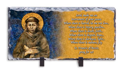 St. Francis Prayer Horizontal Slate Tile