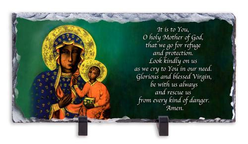 Our Lady of Czestochowa Prayer Horizontal Slate Tile