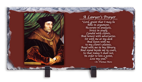 St. Thomas More Prayer Horizontal Slate Tile