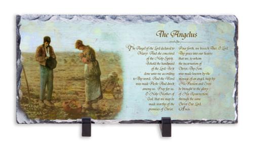The Angelus Prayer Horizontal Slate Tile