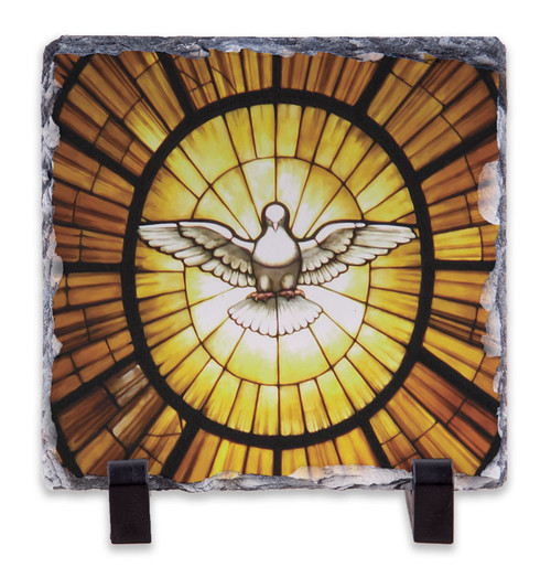 Holy Spirit Square Slate Tile
