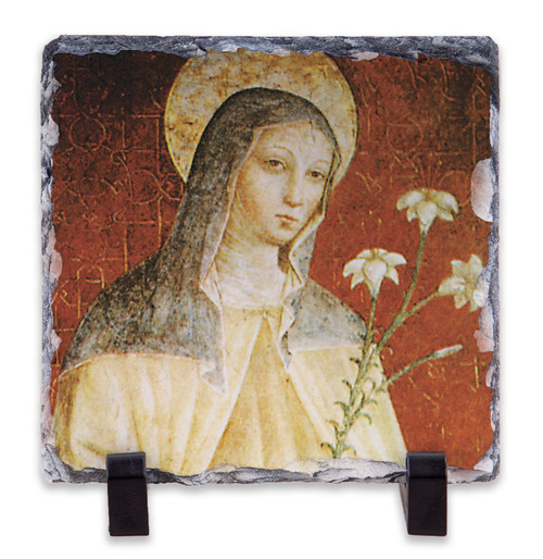 St. Clare of Assisi Square Slate Tile