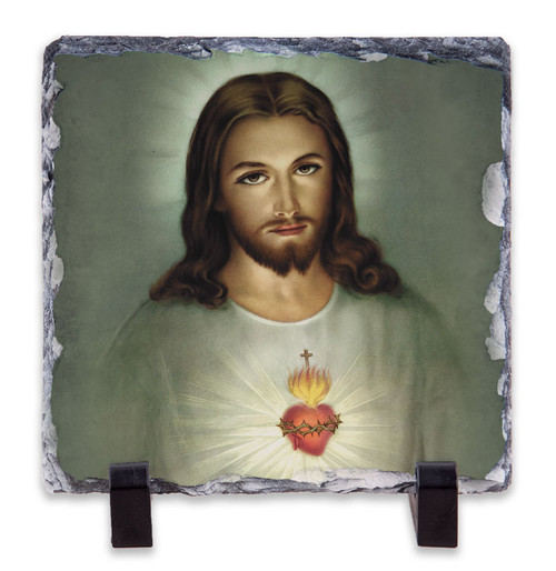 Sacred Heart (Traditional) Square Slate Tile