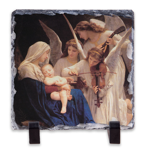 Song of the Angels Square Slate Tile