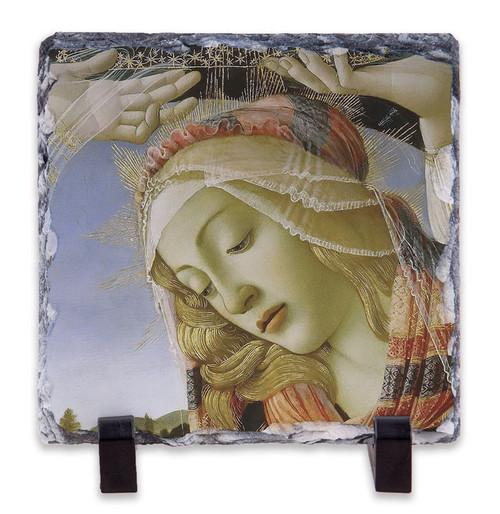 Madonna of the Magnificat (Detail) Square Slate Tile