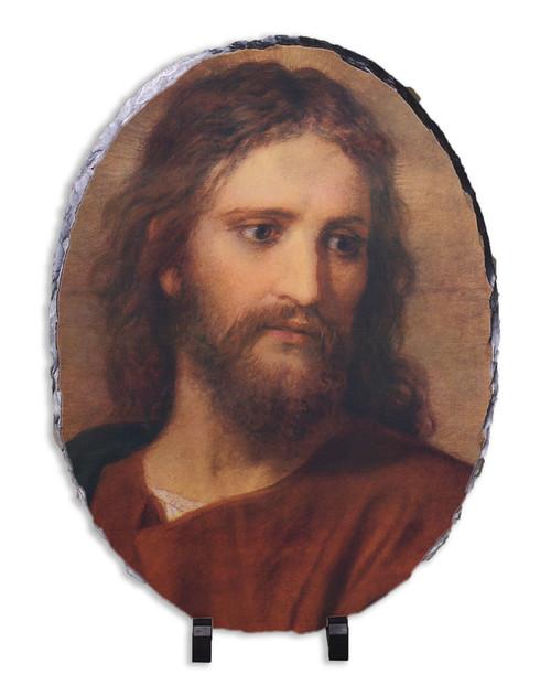 Christ at 33 Oval Slate Tile