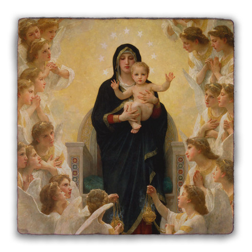 Queen of Angels Square Tumbled Stone Tile