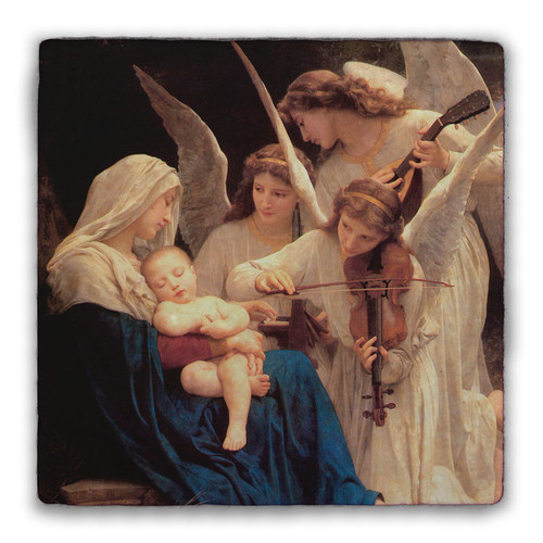 Song of the Angels Square Tumbled Stone Tile