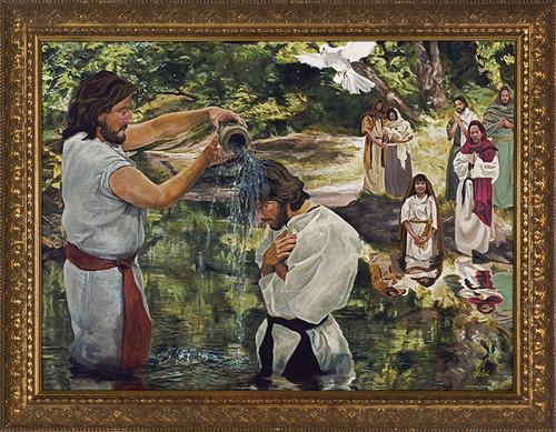Baptism of Jesus by Jason Jenicke - Gold Framed Art