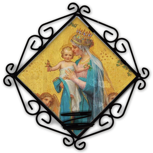 Madonna and Child by Enric M. Vidal Votive Candle Holder