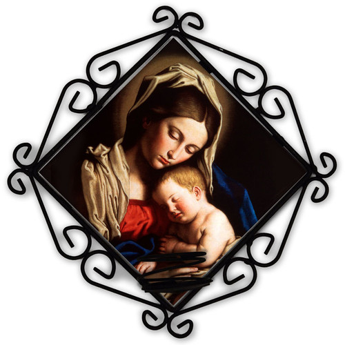 Madonna and Her Child Votive Candle Holder