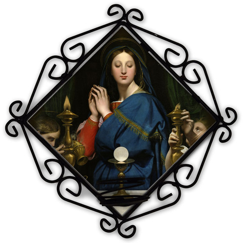 Madonna of the Host Votive Candle Holder