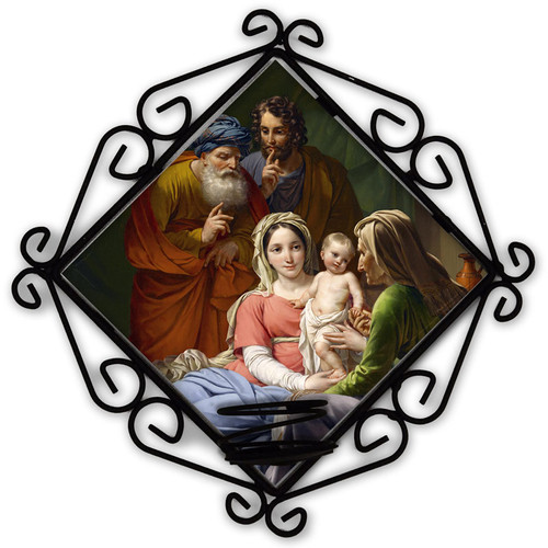 Holy Family with Grandparents Joachim and Anne Votive Candle Holder