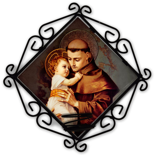 St. Anthony Votive Candle Holder