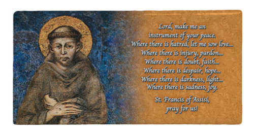 St. Francis Prayer Hi-Gloss Mini Tile