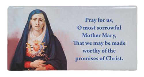 Our Lady of Sorrows Prayer Hi-Gloss Mini Tile