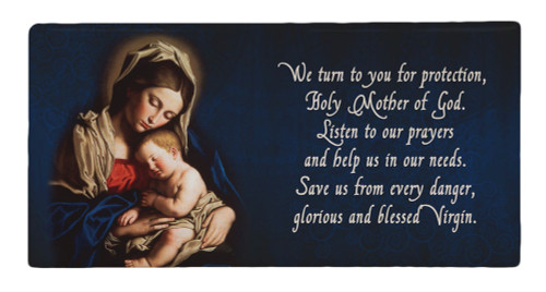 Madonna and Her Child Prayer Hi-Gloss Mini Tile