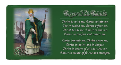 St. Patrick Prayer Hi-Gloss Mini Tile