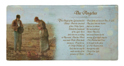 The Angelus Prayer Hi-Gloss Mini Tile
