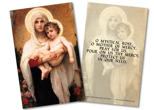 Madonna of Roses Holy Card