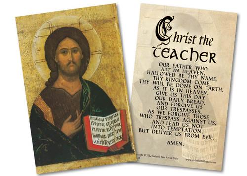Christ the Teacher Holy Card