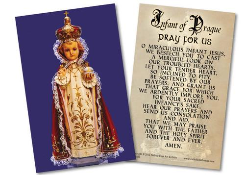 Infant of Prague Holy Card
