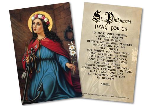 St. Philomena Holy Card