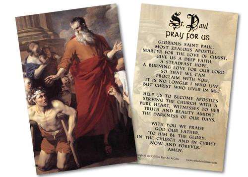 St. Paul Heals the Cripple Holy Card