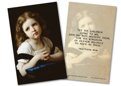 La Priere Holy Card