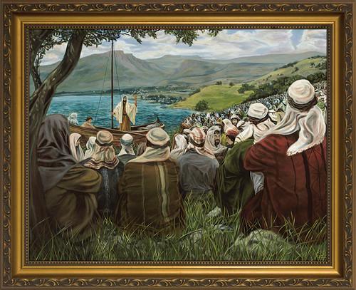 Sermon on the Mount by Jason Jenicke - Gold Framed Art