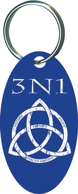 3N1 Blue Oval Keychain