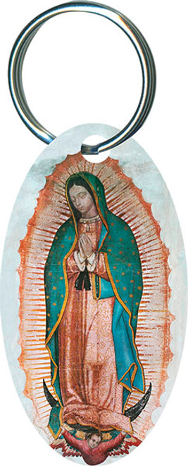 Our Lady of Guadalupe Oval Keychain