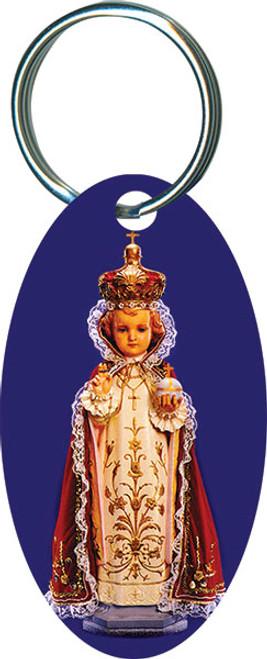 Infant of Prague Oval Keychain