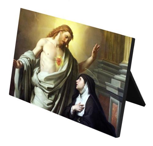 St. Margaret Mary Alacoque Horizontal Desk Plaque
